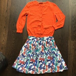 KATE SPADE glasses novelty print mini skirt 14
